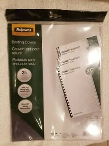 Fellowes Binding Presentation Covers 8mil Letter 25 Pack Clear 52043