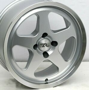 17 Silver W Polish Lip Ford Mustang Saleen Sc Style Wheels 17x8 4x108 79 93 Fox