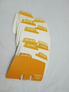 Rolodex Petite A z Card Dividers 2 1 8 X 4 Used