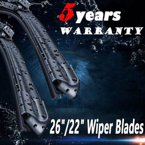 26 22 High Quality J Hook Front Windshield Wiper Blades Frameless All Season