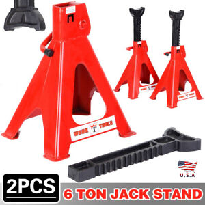 2 X 6ton Adjustment Height Heavy Duty Jack Stands For Car Truck Tire Change Lift