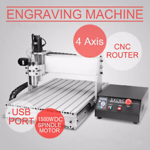 1 5kw Usb 4 Axis Cnc 6040z Router Engraving Wood Drill milling Machine