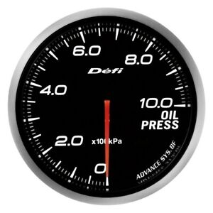 Defi Advance Bf 60mm Oil Pressure Gauge W White Lighting