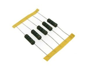 5w 0 1r Ohm Wirewound Resistor Knp Pack Of 5