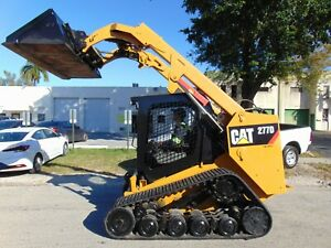 2017 Cat 277d Asv Susension 18 Wide Tracks 2 Speed Turbo Back Up Camera