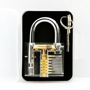 2pcs Transparent Clear Locksmith Tool Practice For See through Lock Training