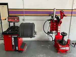 Barely Used Hunter Dsp9200 Tire Changer And Tc3300 Balancer