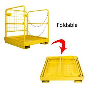 900lbs 36 36 Forklift Safety Cage Work Platform Durable Built in Chains