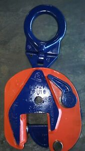 crosby Ipu 2 Ton Inter Product Plate Lifting Clamp Grip 0 1 3 8