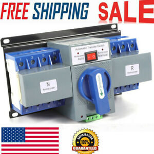 63a 4p Ats Dual Power Mini Automatic Transfer Switches Change over Switch 110v