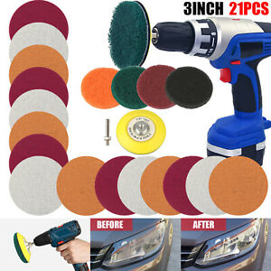 21x 3 Car Headlight Lens Restoration Repair Kit Polishing Cleaner Cleaning Tool