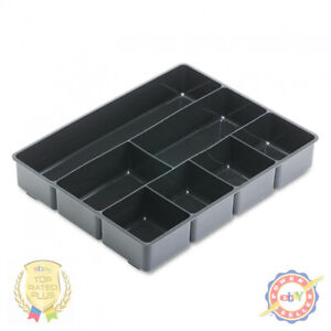 Rubbermaid Extra Deep Desk Drawer Director Tray Plastic Black
