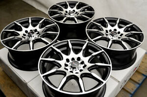 15 Wheels Rims Black Honda Civic Prelude Accord Toyota Corolla Prius Scion Tc