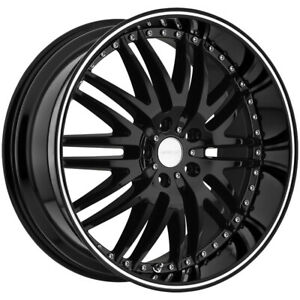 4 menzari Z04 18x8 5 5x4 5 35mm Gloss Black Wheels Rims 18 Inch