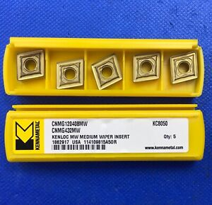 5pc Kennametal Cnmg120408mw Carbide Inserts Cnmg432mw Grade Kc8050 Machinist