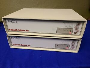 Lot Of Two Scientific Software Ss420x Analog To Digital Interface W Ac Adapters