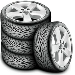4 New Federal Super Steel 595 205 40r17 80v A S Performance Tires