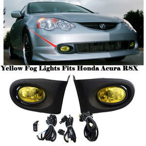 Fits For 2002 2003 2004 Rsx Integra Dc5 Yellow Bumper Fog Lights Lamps