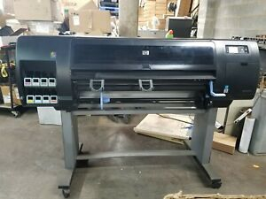 Hp Designjet Z6200 Wide Format Color Plotter Cq111a Tested To Turn On No Ink