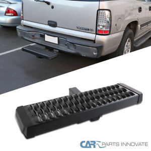 Black Rear Hitch Step Bar For Truck Suv 2 Hitch Receiver Long Guard Protection