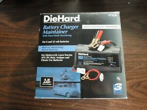 Diehard Battery Charger Maintainer 71220 1 5 Amp 6 12 Volt Automatic Operation