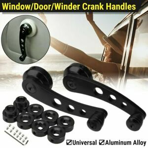 Chrome Inside Interior Window Crank Handle Pair Set New For Ford Pickup Truck