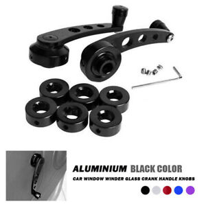 Black Inside Interior Window Crank Handle Pair Set New For Ford Pickup Truck