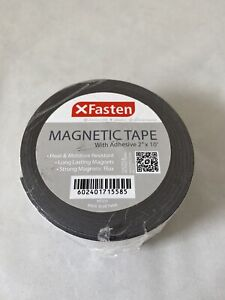 Xfasten Magnetic Tape With Adhesive 2 inch X 10 foot