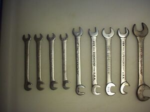 9 Williams Superrench 4 Way Angle Head Wrenches 1112 Thru 1128 Usa