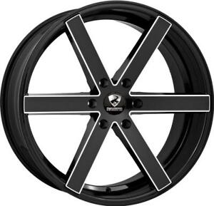22 Inch 22x9 5 Ravetti M3 Black Milled Wheels Rims 6x5 5 6x139 7 30