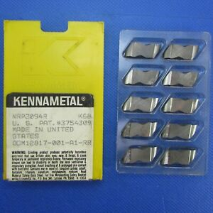 10pcs Kennametal Nrp3094r K68 Carbide Radius Grooving Inserts Machinist