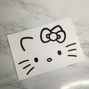 Hello Kitty Face Bow Car Window Laptop Vinyl Decal Sticker