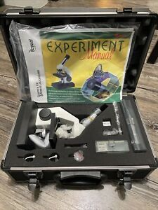 Edmund Scientific Microscope Kit With Accessories Hard Case Boreal Motic