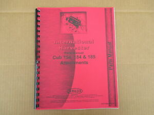 Jensales Implement Manual For Ih International 154 Cub Lo boy 184 185