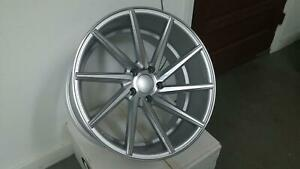 20x8 5 5x120 Et35 Cb72 56 Silver Machined Face Tuner Set Of 4 Wheels