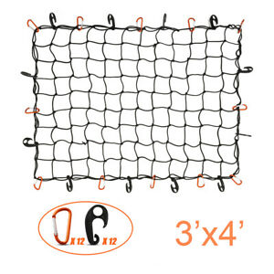 3 x4 Large Bungee Cargo Net Elastic For Pickup Truck Bed Trailer Suv Heavy Duty
