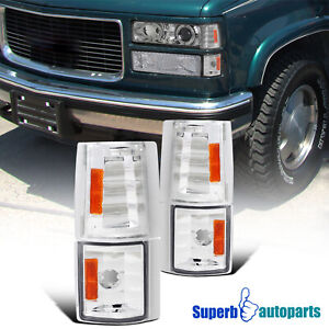 For 1994 1998 94 98 Gmc C10 1500 2500 Pickup Truck Corner Lights 4pc Replacement