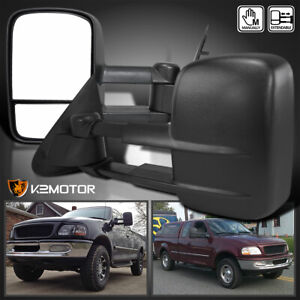 Fits 1997 2003 Ford F150 Extend Telescope Manual Towing Side Mirrors Left right