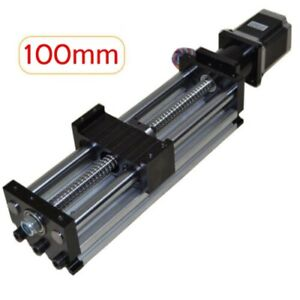 Ball Screw Linear Cnc Slide Stroke 100mm 4 In Long Stage Actuator Stepper Motor