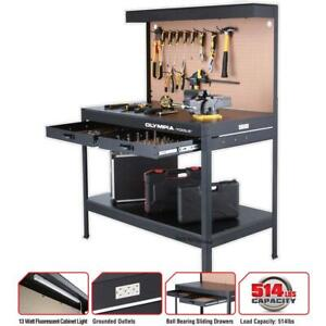 Best Work Bench Light PowerStrip Table Reloading Machine Shop Garage Hobby Steel $172.82
