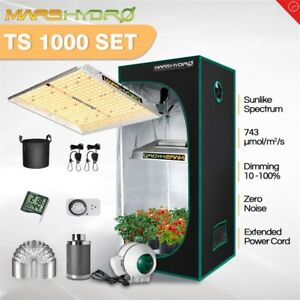 Mars Hydro TS 1000W LED Grow Light2#x27;x2#x27; Indoor Tent Carbon Filter Complete Kits $349.99