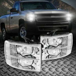 For 2007 2013 Chevy Silverado 1500 2500hd 3500hd Headlights Lamps Assembly