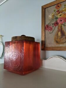 Colorflo Resin Lucite Ice Bucket Storage Cube Mid Century Modern 1960 S