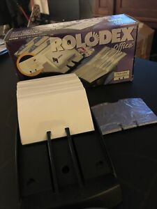 Vintage Rolodex Office Business Card File 100 Sleeves New With Box 67186