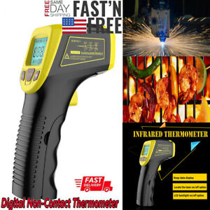 Industrial Digital Laser Temperature Gun Infrared Thermometer Non contact Lcd Us