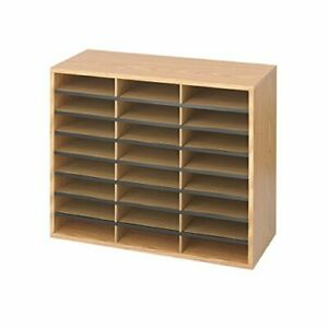 Safco Products Wood corrugated Literature Organizer 24 Compartment 9402mo Med