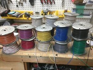 Multiple Spools Of 16awg Stranded Copper Electrical Wire 400ft Per Spool