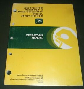 John Deere 7200 Maxemerge 24 Row Flex fold Planter Operation Maintenance Manual
