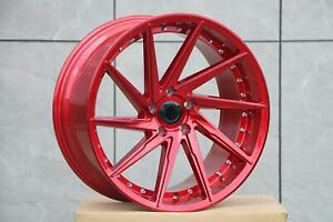 19x8 5 5x114 3 Et35 Cb73 1 Red With Machined Rep Lip Set Of 4