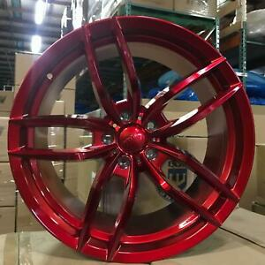 20x9 5 5x120 Et35 Cb72 56 Red Red Set Of 4 Wheels